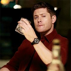 "dean-winchester-crush: "" Incredibly rare, unspeakably expensive bottle of barrel proof Scotch The Raid "" Supernatural Imagines, Winchester Supernatural, Winchester Boys, Supernatural Fandom, Dean Winchester Quotes, Supernatural Season 10, Winchester Brothers, Jensen Ackles Gif, Familia Winchester"