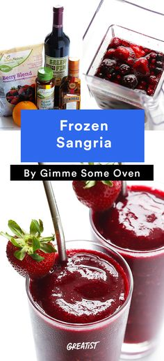 1. Frozen Sangria #cocktail #recipes http://greatist.com/eat/summer-cocktails-that-are-not-crazy-unhealthy