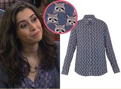 How I Met Your Mother and Wolf of Wall Street actress Cristin Milioti wearing our 'Racoon' Print x