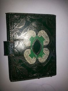 Vintage Italy Green Gold Gilt Photo Wallet