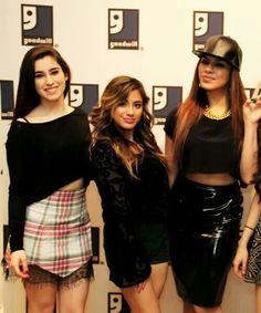 Lauren Michelle Jauregui, Ally Brooke Hernandez, and Dinah Jane Hansen from Fifth Harmony