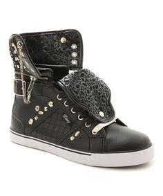 Another great find on #zulily! Black Sugar Rush Hi-Top Sneaker #zulilyfinds