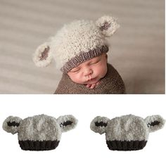 0-3 Months Newborn Baby Hats Crochet Knit Costume Photo Photography Prop Caps #New