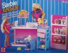 Barbie So Much To Do! Pretty Pet Parlor Playset (1994 Tri-Lingual Box) by Mattel Canada. $82.99