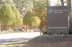 Main Gate at Fort Lee, VA - Husband spent four months here during Phase 1 of EOD training.