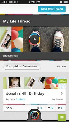 Threadlife App - create 3 second videos and string together. If you haven't done this before, give it a try!