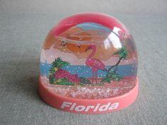 Florida Vintage Souvenir Snow Globe/Dome by PastDays on Etsy, $15.00