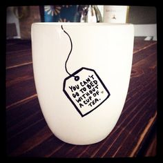 "A ""Little Things"" mug. 