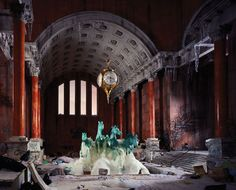 """""""After the Apocalypse"""" Photography Series by Lori Nix. Photographer Lori Nix hand-crafted dioramas are fictional scenes of a post-apocalyptic world in Photography Series, City Photography, Colour Photography, Conceptual Photography, Interior Photography, Photography Ideas, Abandoned Buildings, Abandoned Places, Abandoned Homes"""