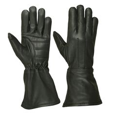 Men's water resistant deerskin gauntlet glove keeps wind and rain off arms with padded palm elastic on wrist three seam hand back unlined Leather Driving Gloves, Leather Gloves, Leather Men, Leather Gauntlet, Gauntlet Gloves, Deerskin Gloves, Biker Accessories, Warmest Winter Gloves, Gloves Fashion