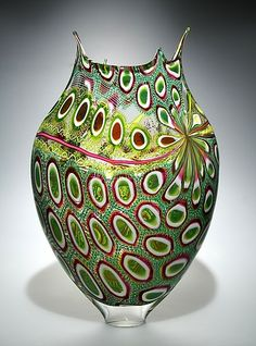 Emerald Foglio glass vase $4600.00