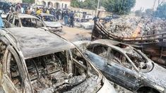 Many people have been killed and others abducted by Boko Haram terrorists during an attack on passengers in Borno State of Nigeria. Instant News, Boko Haram, Fire Powers, Insurgent, Commercial Vehicle, Small Towns, Night Time, At Least