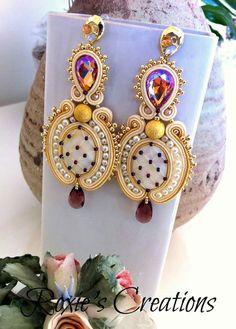 Shibori, Handmade Wire Jewelry, Diy Jewelry, Fashion Jewelry, Seed Bead Jewelry, Seed Beads, Soutache Earrings, Wedding Jewelry Sets, Projects To Try