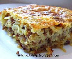 Ne mogu vam opisati koliko me oduševila ova jednostavna pita Pita Recipes, Baking Recipes, Cake Recipes, Dessert Recipes, Albanian Recipes, Bosnian Recipes, Croation Recipes, Macedonian Food, Kolaci I Torte