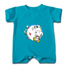 Yuppie Dog Turquoise Cute T-romper For Baby Online-Funny Clothing with your own favorite texts or photos in our designer. free shipping and 24hours available to help.