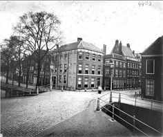 Leiden, hoek Breestraat Rapenburg 1870 Netherlands