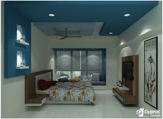 Classy bedroom ceiling designs tailor made for your house! To know more: www.gyproc.in/