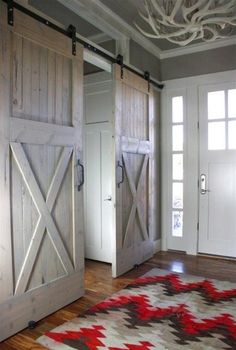 barn doors; like the style on these though not the finish