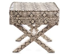 Shop ELLE DECOR editors' latest favorites, from luxury furniture and eye-catching accessories to the showstopping pieces you'll only find here. Luxury Furniture, Furniture Design, Reptile Skin, Snake Patterns, Elle Decor, My Room, Snake Skin, Decorative Boxes, Design Inspiration