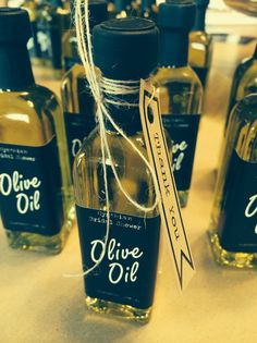 Mini olive oil bottles 60 ML wedding favor by SaltMarketplace, $2.95 each + shipping