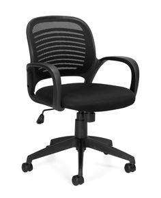 """Black mesh and fabric $127 22""""D x 23.5""""W x 34""""H  OTG http://ofonj.com/new_furniture_product_details.asp?id=4&pid=352"""