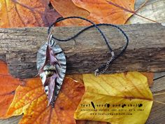 This beautiful statement pieces consists of one large flowering gum leaf plated in an antique nickel finish, an antique copper oak leaf and an antique brass acorn. Hidden within all of these pieces are real items hand selected for their raw natural beauty. www.leafseedpodshell.com #leafseedpodshell #leafseedpodshelljewelry #birdhouse #leaves #leaf #acorn #acorns #seeds #pods #shells #copper #electroform #electroforming #electroformed #electroplated #electroplating #nature #natural #rustic