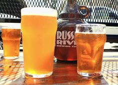 If you're a fan of double IPA's then no doubt you've run across this head-popper. Brew this Pliny the Elder clone beer recipe and enjoy a very hoppy brew. Beer Brewing Kits, Brewing Recipes, Homebrew Recipes, Beer Recipes, Ipa Recipe, Clone Recipe, Beer Hops, Pliny The Elder, Orange Wine