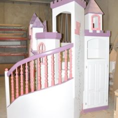 The Braun Castle Bunk Bed is just what your princess needs! Includes a charming wrap around staircase, tons of towers, and ample storage space.