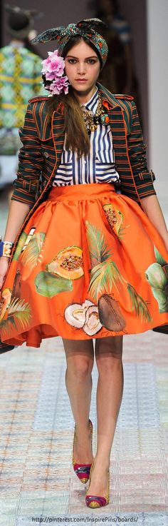 Milan Spring 2014 - Stella Jean   The House of Beccaria.  #patternmixing