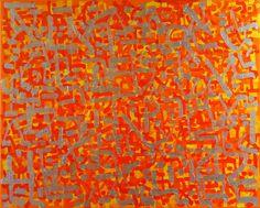 Indiewalls: 2013-050 Genesis 1:24-1:31 Orange, Yellow, Silver by Alyse Radenovic