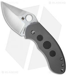 "Spyderco Burch Chubby Frame Lock Knife Titanium (2.3"" Satin) C183TIP"