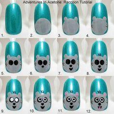Nail art tutoriel - Panda