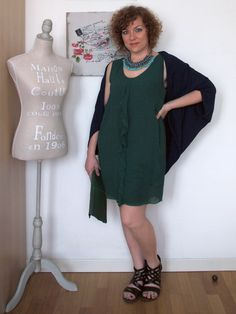 verdementa - fashion from my curvy point of view: #Outfit | con i colori del pavone #peacock #green and #blu #fashion #curvy #curvyoutfit #curvyblogger #fashionblogger #mystyle