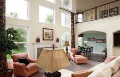 Great Room is Flooded with Natural Light in the Devonshire from Dominion Homes. See it in person at the Reserve at Glenross in Delaware, OH.