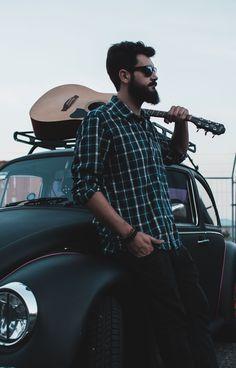 History car, beard and music