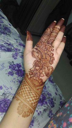 Mehendi design created by me! Simple Arabic Mehndi Designs, Latest Bridal Mehndi Designs, Mehndi Designs Book, Full Hand Mehndi Designs, Stylish Mehndi Designs, Mehndi Designs For Beginners, Mehndi Design Pictures, Mehndi Designs For Girls, Wedding Mehndi Designs
