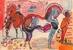 "Merello.-""Horses in Red"""