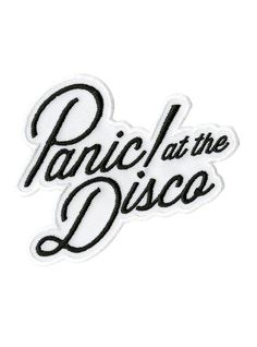 "<p>Iron-on patch from Panic! At The Disco with embroidered logo design.</p> <ul> <li>3 1/4"" x 2 3/4""</li> <li>Imported</li> </ul> <p> </p>"