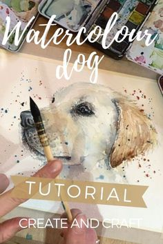 Watercolor Beginner, Watercolor Paintings For Beginners, Watercolor Pictures, Watercolor Techniques, Drawing Techniques, Watercolor Portrait Tutorial, Watercolour Tutorials, Watercolor Portraits, Dog Paintings