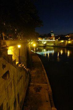 Ponte Sant'Angelo, Rome, Italy 산탄젤로 다리에서 바라본 풍경