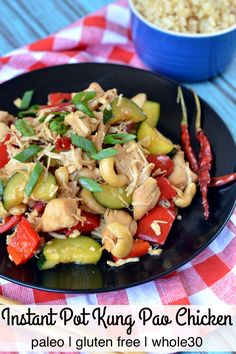 Make your favorite Chinese takeout at home with this Paleo Instant Pot Kung Pao Chicken! Pair with cauliflower rice to complete this gluten-free Asian dinner! Best Gluten Free Recipes, Whole 30 Recipes, Paleo Recipes, Real Food Recipes, Paleo Menu, Entree Recipes, Chicken Recipes, Instant Pot Pressure Cooker, Pressure Cooker Recipes