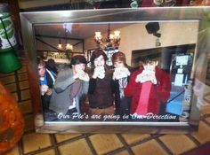 this is a photo at the bakery where Harry used to work! I wish Niall was more in the pic...