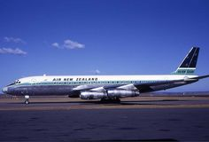 We flew in an Air New Zealand McDonnell Douglas DC8 from Brisbane to Auckland…