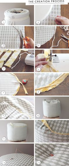 Make your own pouf-style ottoman // via Making Nice in the Midwest