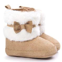 d7e05d02fb Muqgew bowknot del bebé mantener caliente suave suela botas de nieve suaves  cuna shoes shoes boots