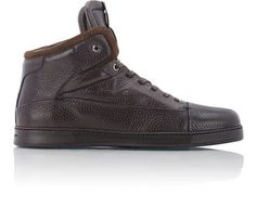 Ermenegildo Zegna Manhattan High-Top Sneakers at Barneys New York