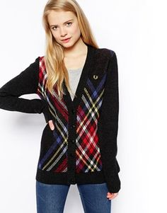 Fred Perry Tartan Cardigan at asos.com a7389ae5a2