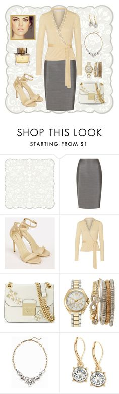 """Buttery yellow"" by puppylove7 ❤ liked on Polyvore featuring MaxMara, JustFab, Diane Von Furstenberg, MICHAEL Michael Kors, Jessica Carlyle, Old Navy, Anne Klein, ALDO and Burberry"