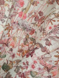 Wild Flowers rosarot-mauve auf Sycamore Leinen, Liberty Fabrics Leinen Mauve, Shops, Liberty Fabric, Wild Flowers, Fabrics, Autumn, Quilts, Blanket, Home Decor