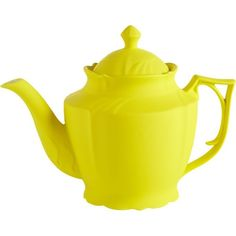 CB2 Lizzy Teapot (52 BRL) ❤ liked on Polyvore featuring home, kitchen & dining, teapots, fillers, kitchen, decor, food, cb2, yellow teapot and tea pot